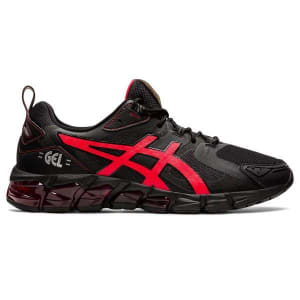 Asics Gel Quantum 180 6 - Mens Sneakers - Black/Sunrise Red