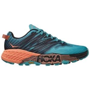Hoka One One Speedgoat 4 - Womens Trail Running Shoes - Aquarelle/Cantaloupe