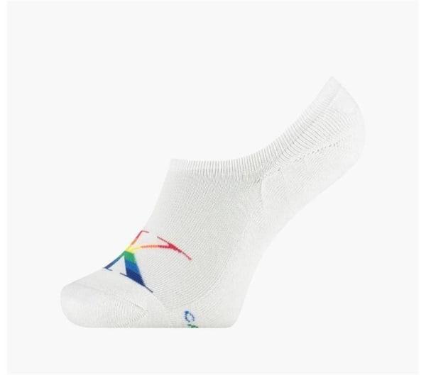 Calvin Klein Calvin Klein Womens Pride Logo Liner Sock White