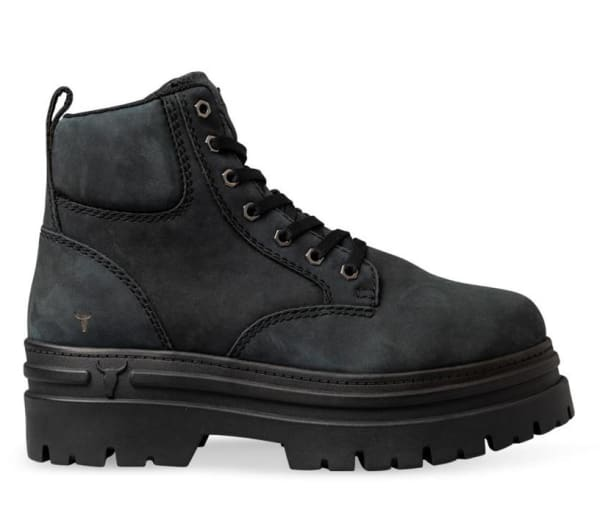 Windsor Smith Windsor Smith Womens Attitude Boot Charcoal Black