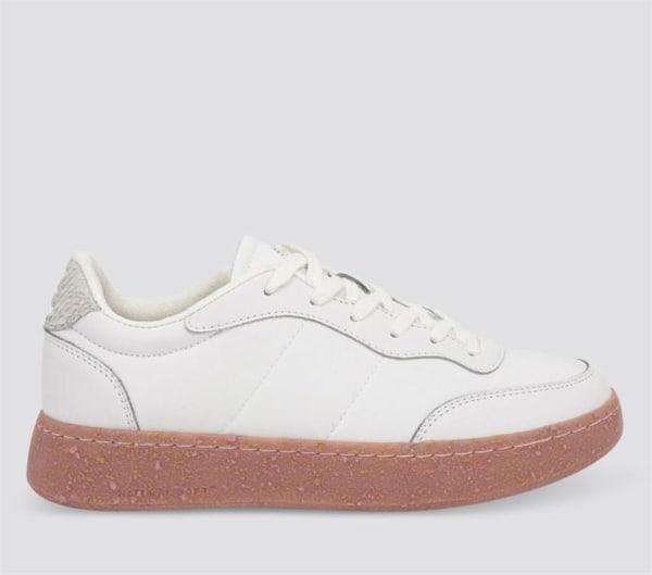 Woden Woden Womens May II 754 Bright White-Soft Pink