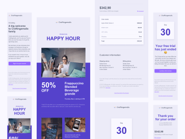 8 Responsive email templates design system