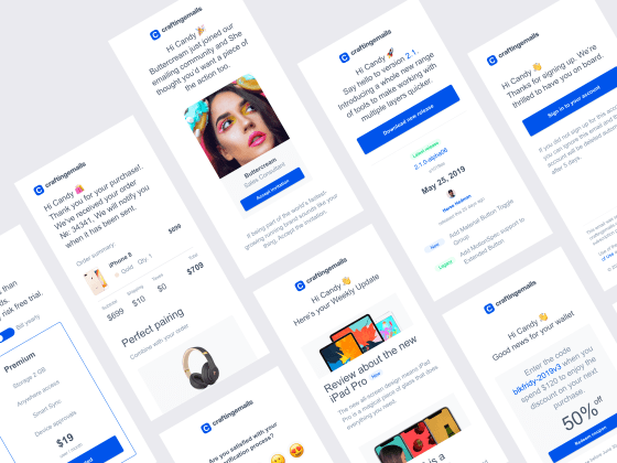 72 eCommerce email templates