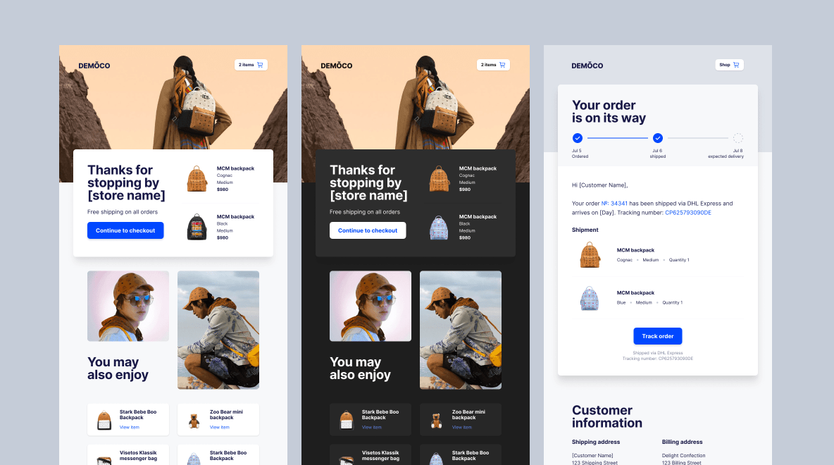 SaaS welcome email templates