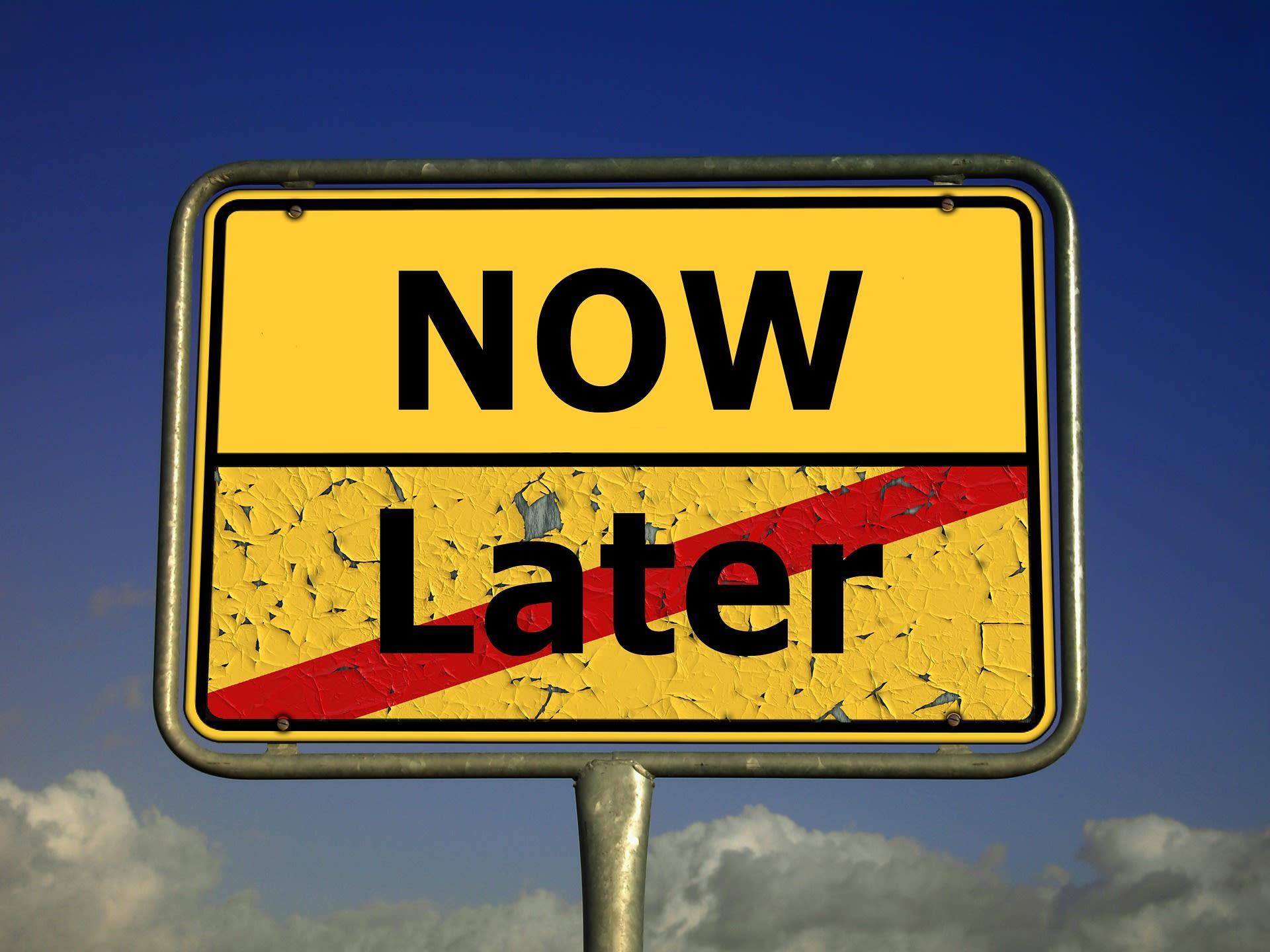 Skilt - nu, ikke senere