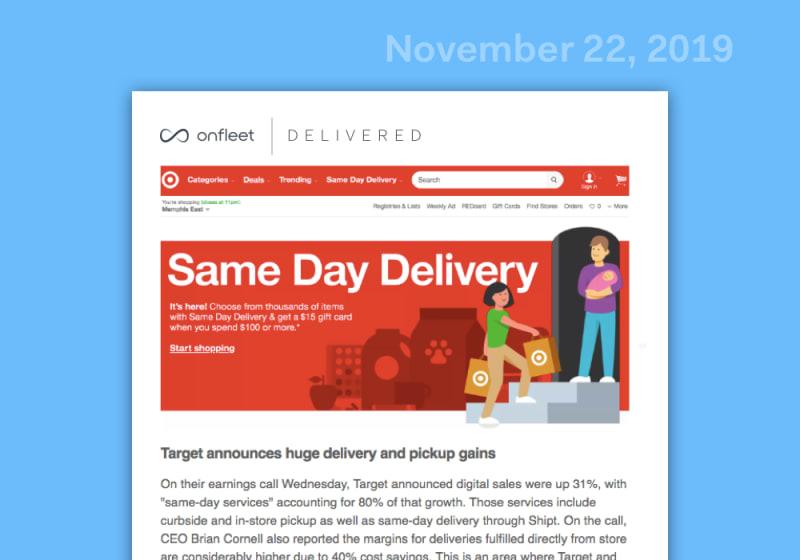 Delivered: Last-Mile Industry Roundup (Nov 22, 2019)