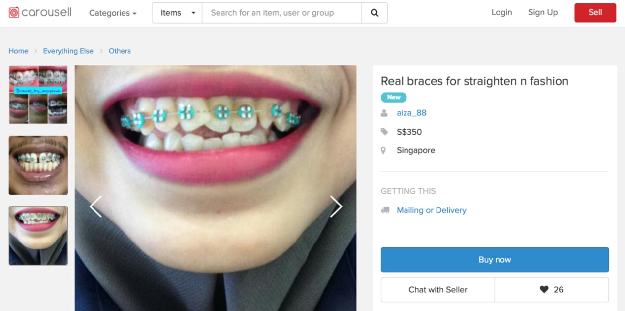 $350 For Braces? The Carousell Dentist Will See You Now undefined