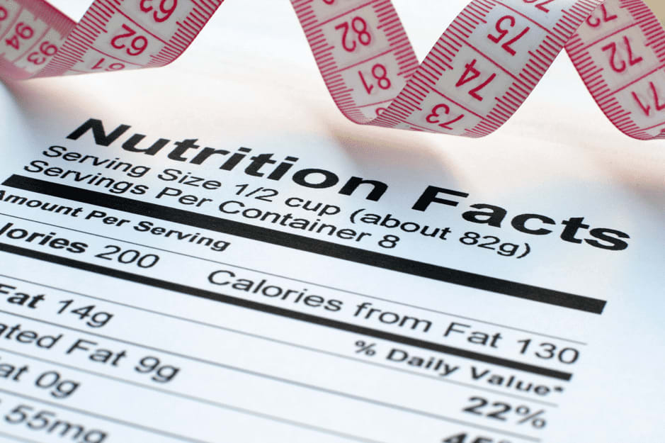nutrition facts for weight loss singapore
