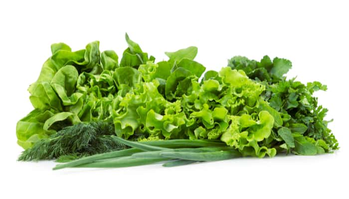Green vegetables for tooth infection