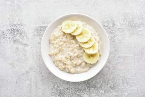 Porridge and banana
