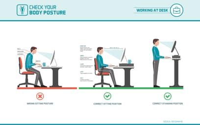 Sitting posture infographic