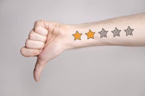 Bad 2 star tattoo