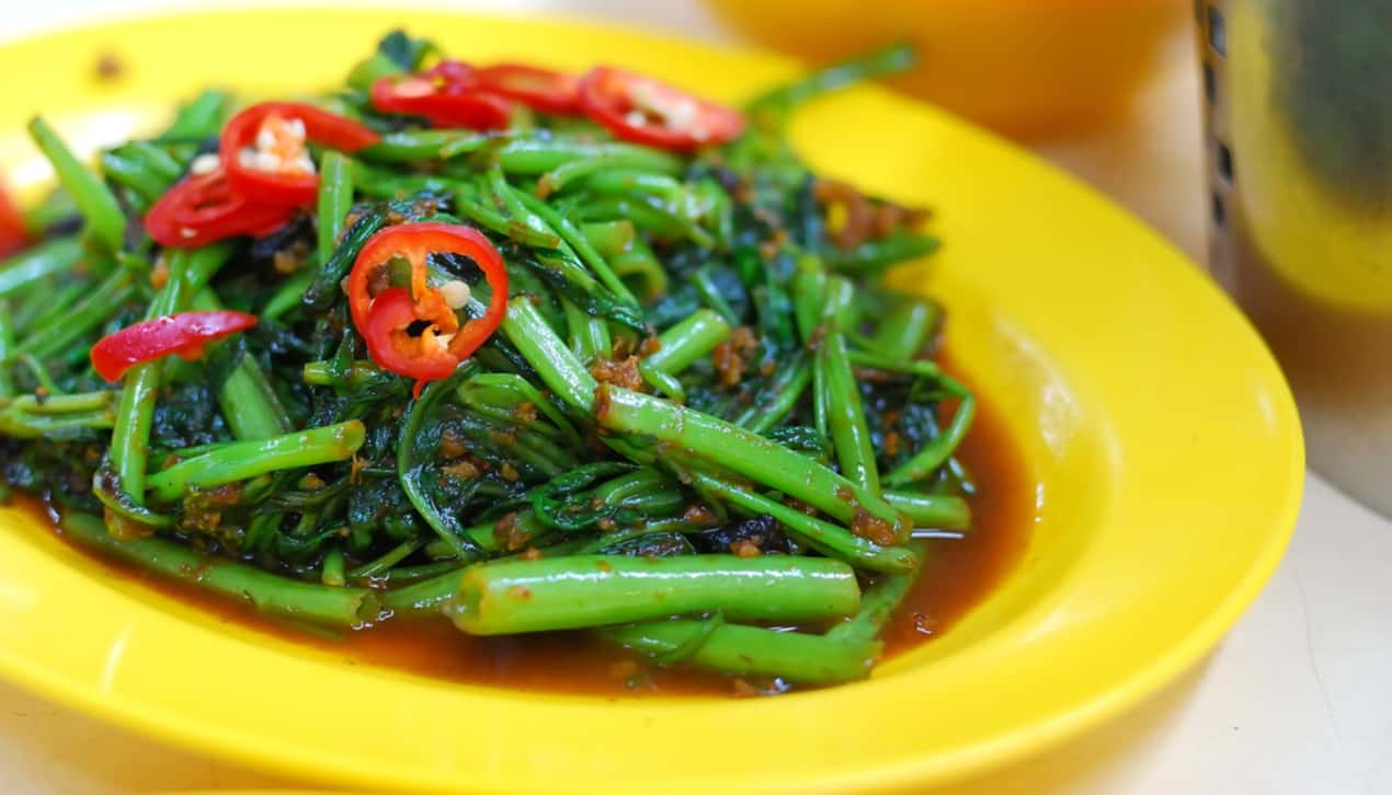 stir fried kang kong