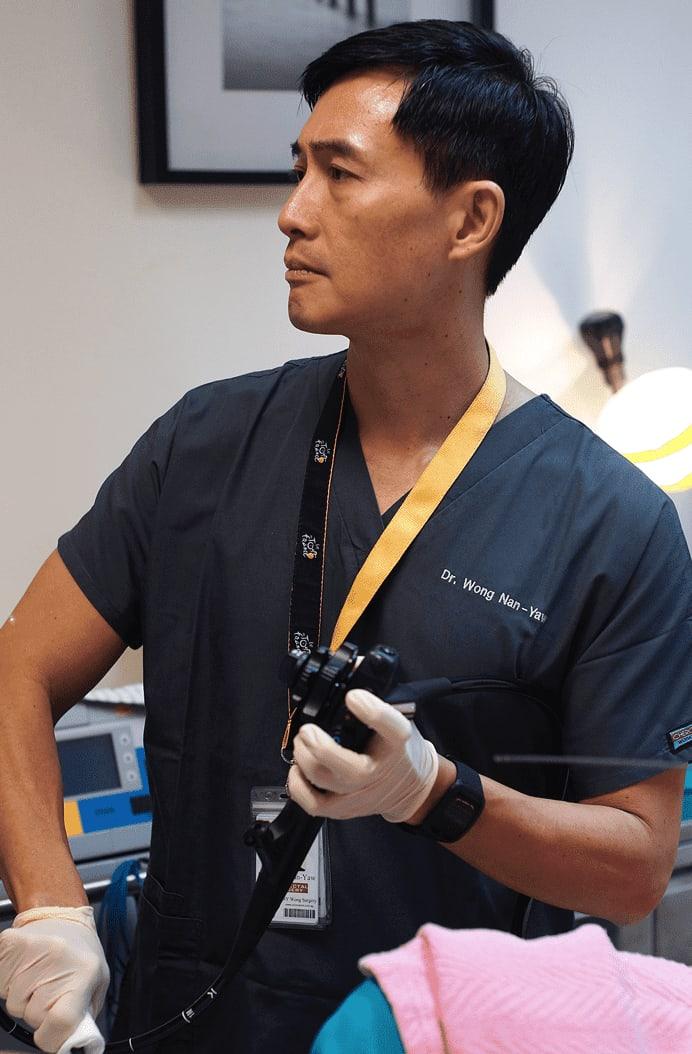 Dr Wong Nan Yaw colonoscopy