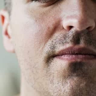 closeup of a man