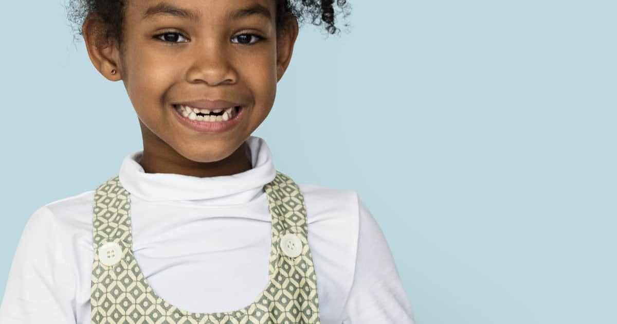 child smiling at camera