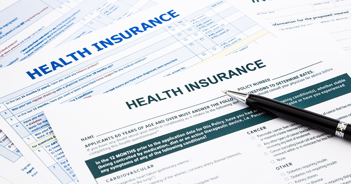 health insurance paper forms