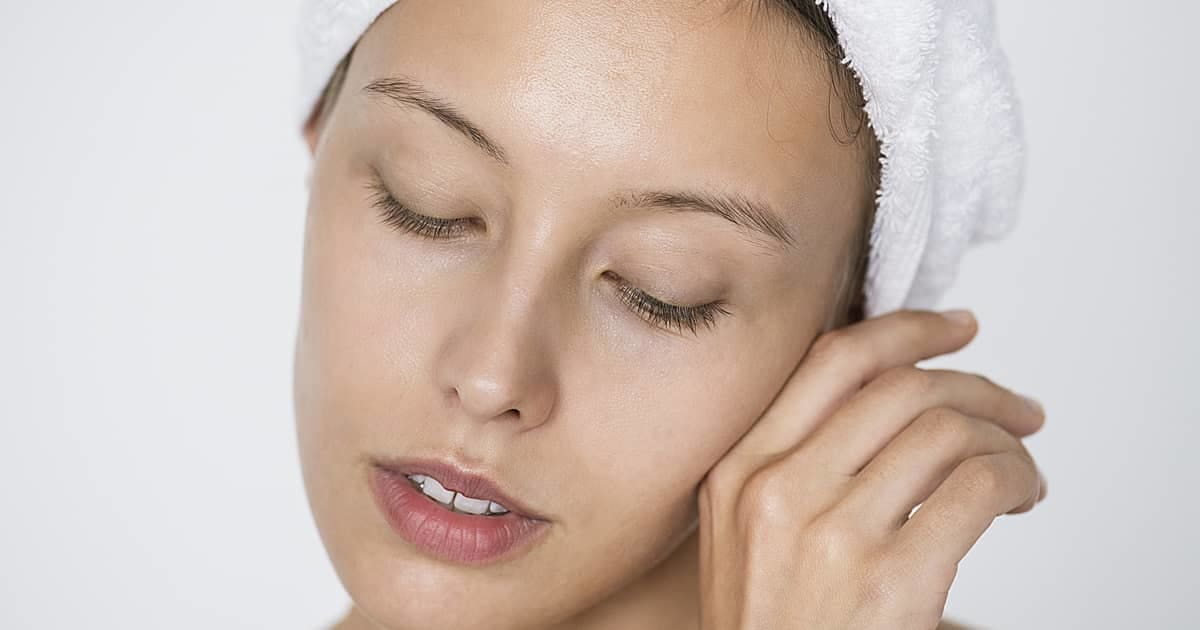 woman after skincare