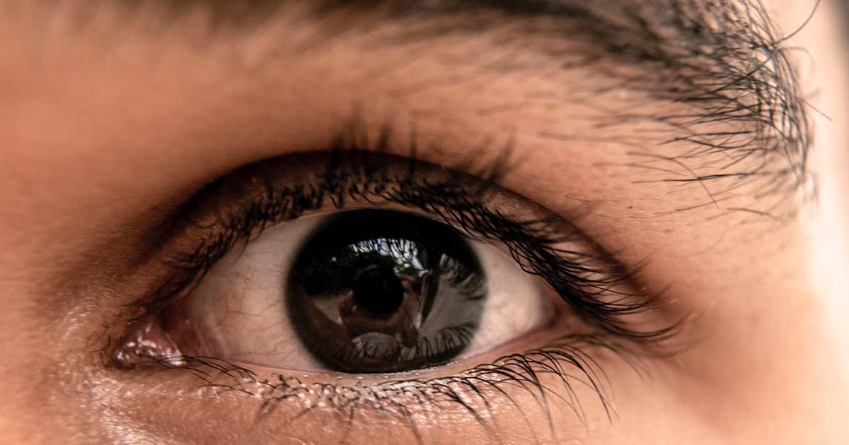 a closeup of an eye