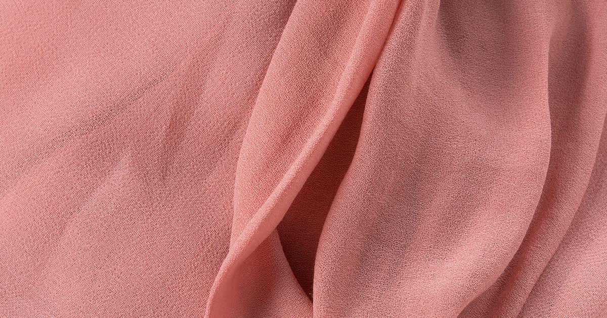 coral pink silk cloth