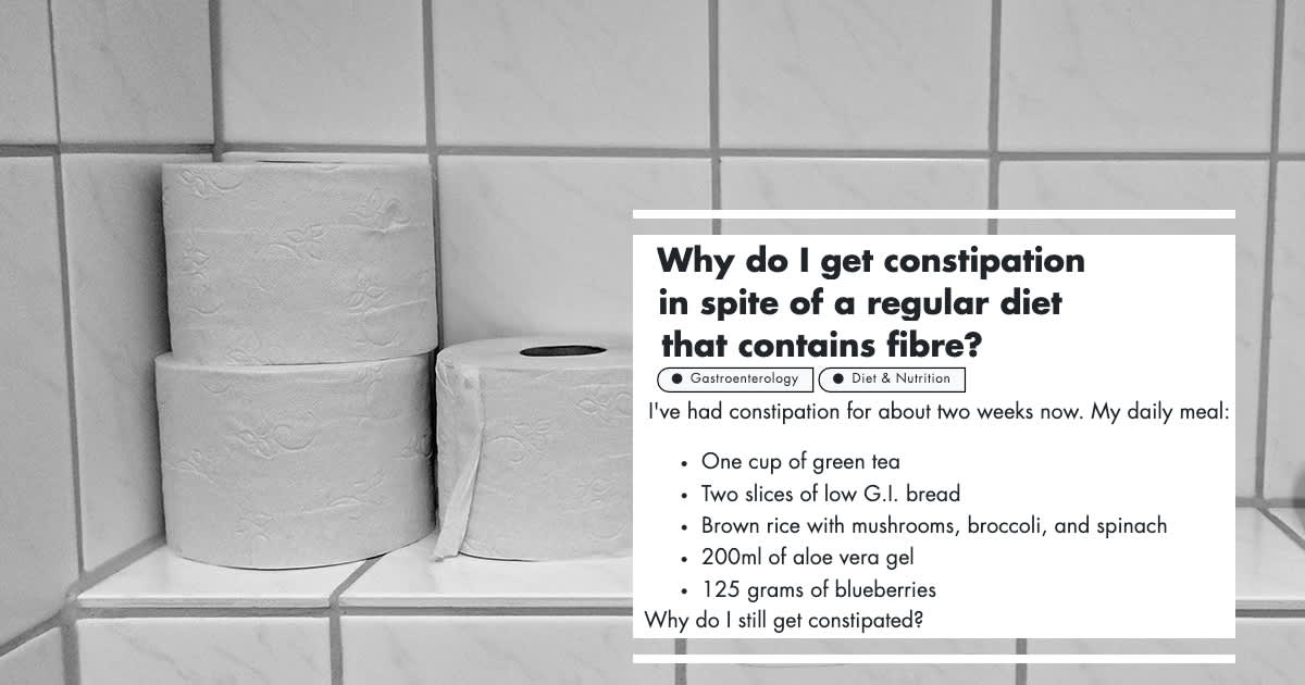 Getting Constipation Despite A Regular Diet: A Gastroenterologist Explains undefined