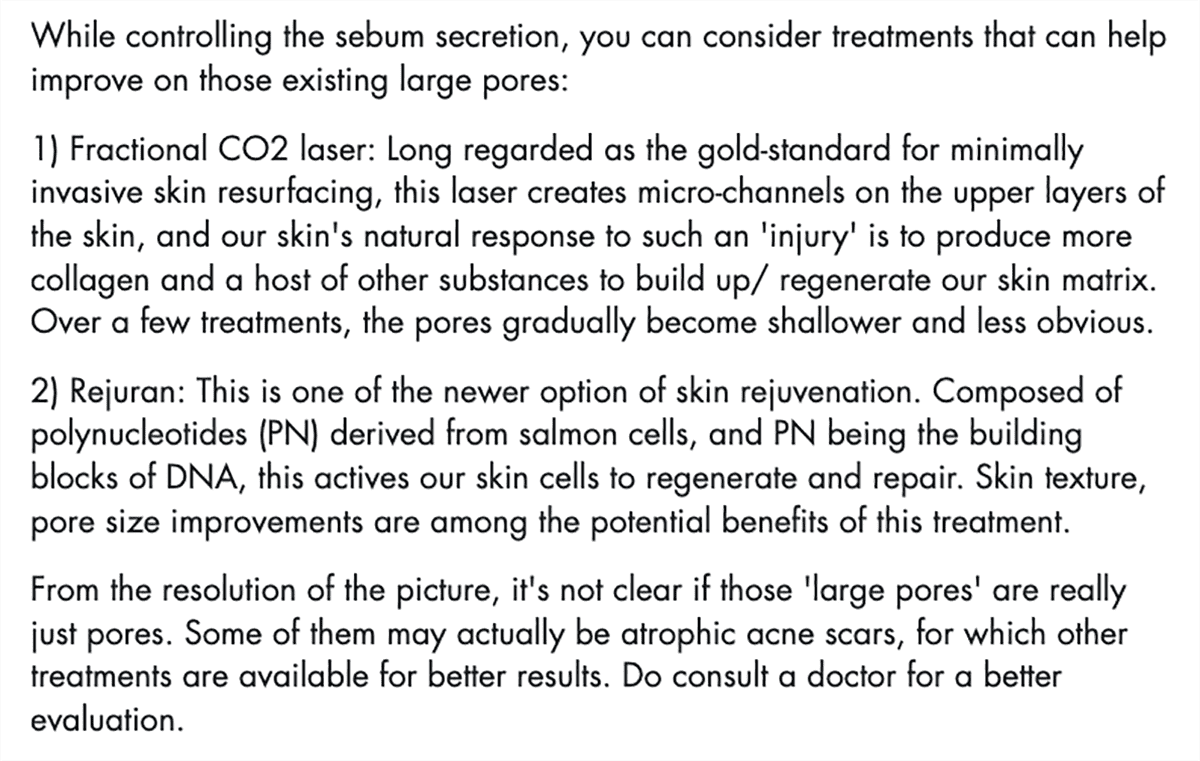 screenshot of a part of dr vivian yong's answers