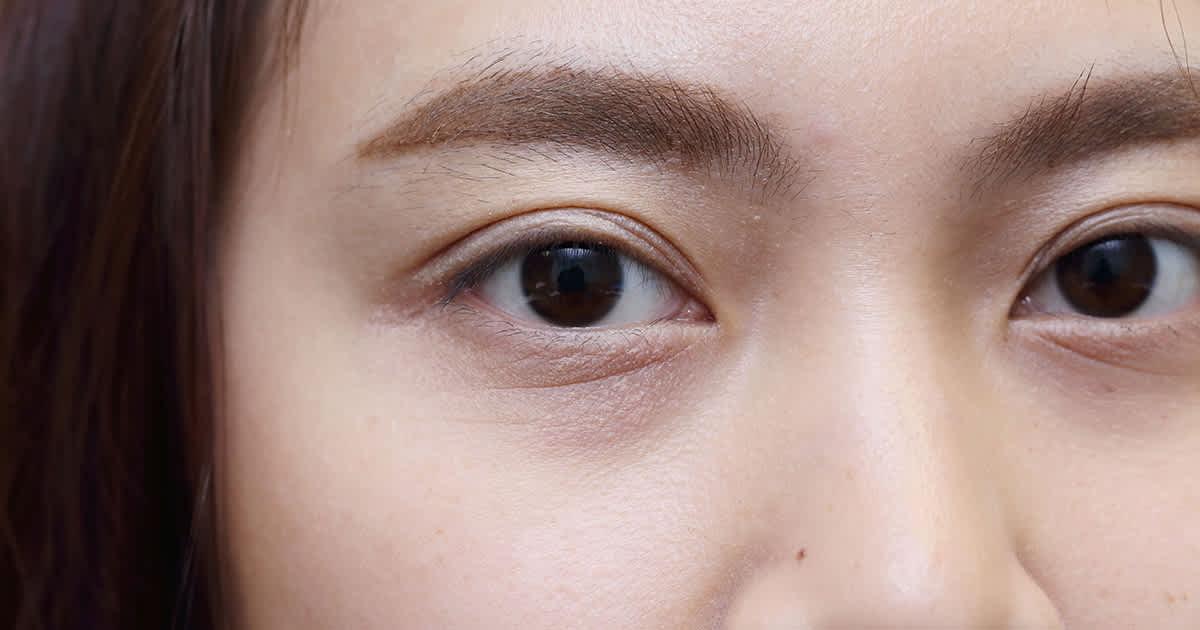 a woman's eyes looking at camera