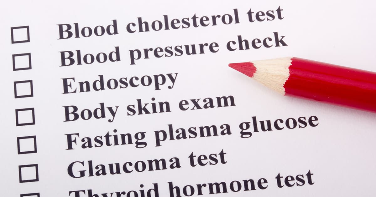 list of health tests
