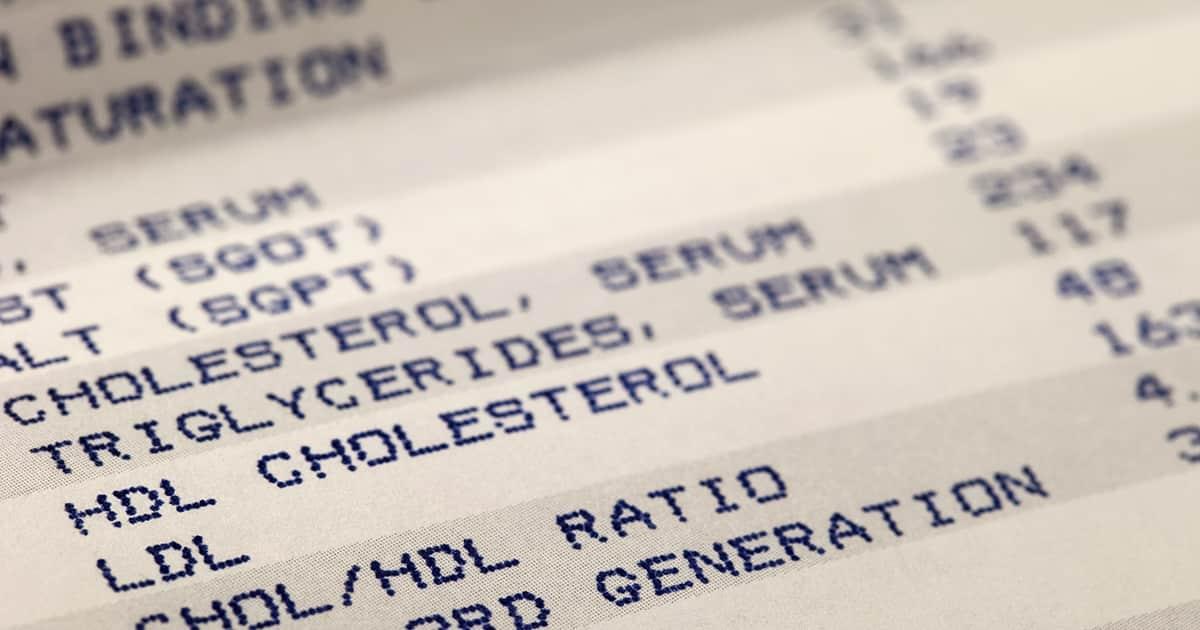 health screening result sheet