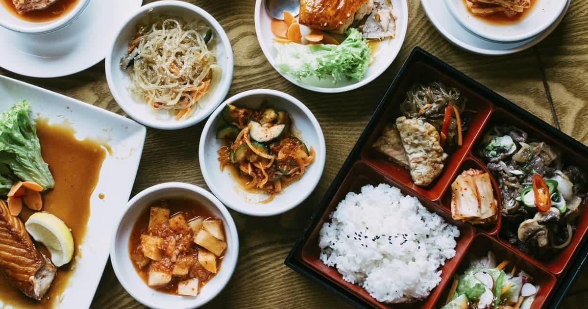 korean food on table
