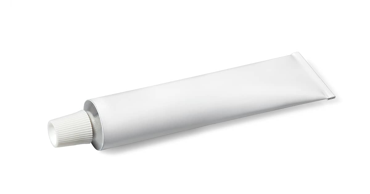 a white tube of cream