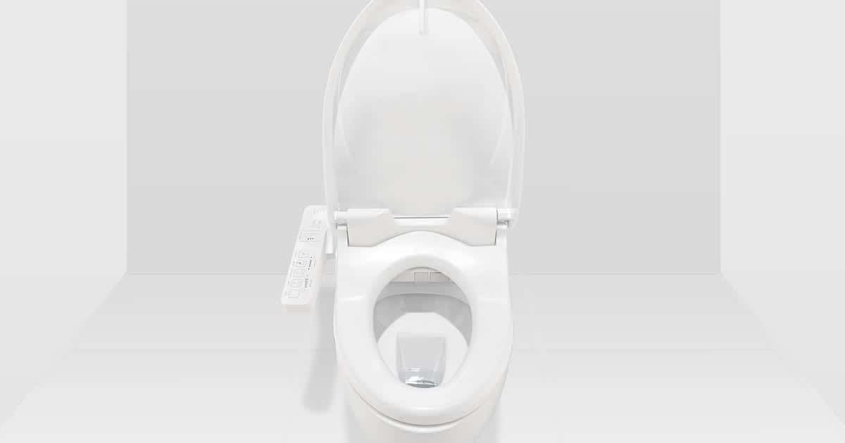 a white toilet bowl