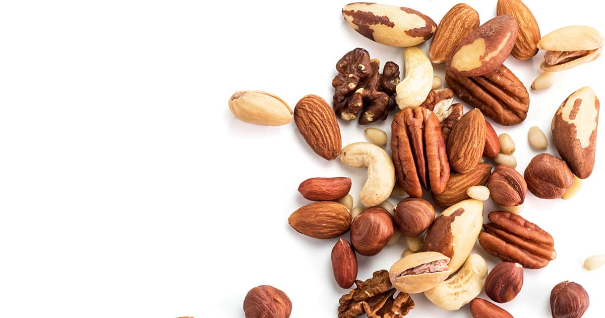 flatlay of a variety of nuts