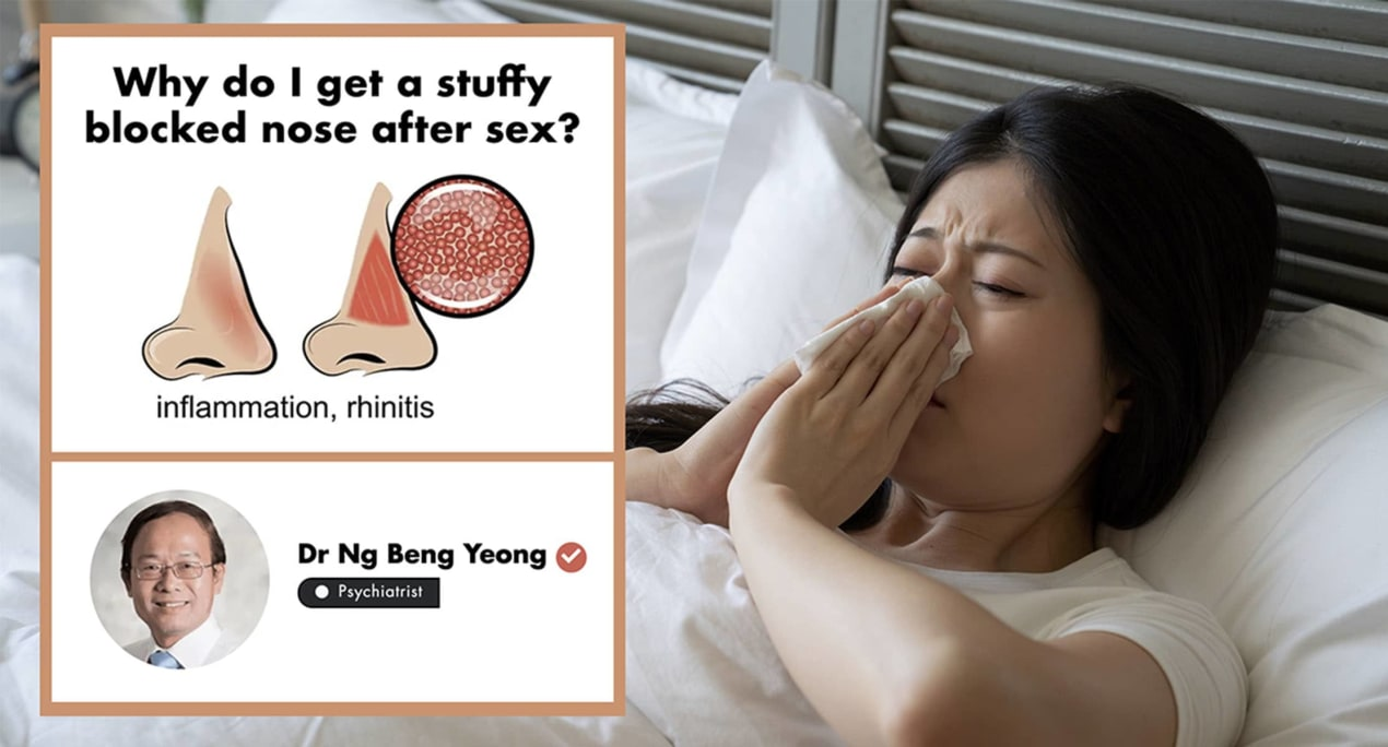 Stuffy Nose While Having Sex? A Singapore Doctor Tells You Why undefined