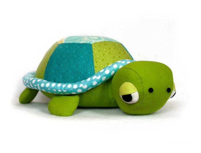 Stuffed Turtle Sewing Pattern