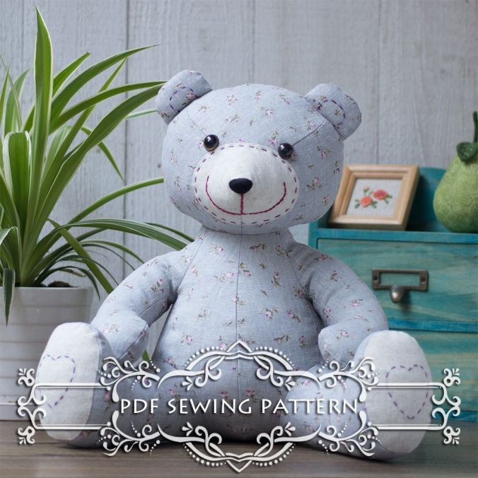 Stuffed Teddy Bear Sewing Pattern