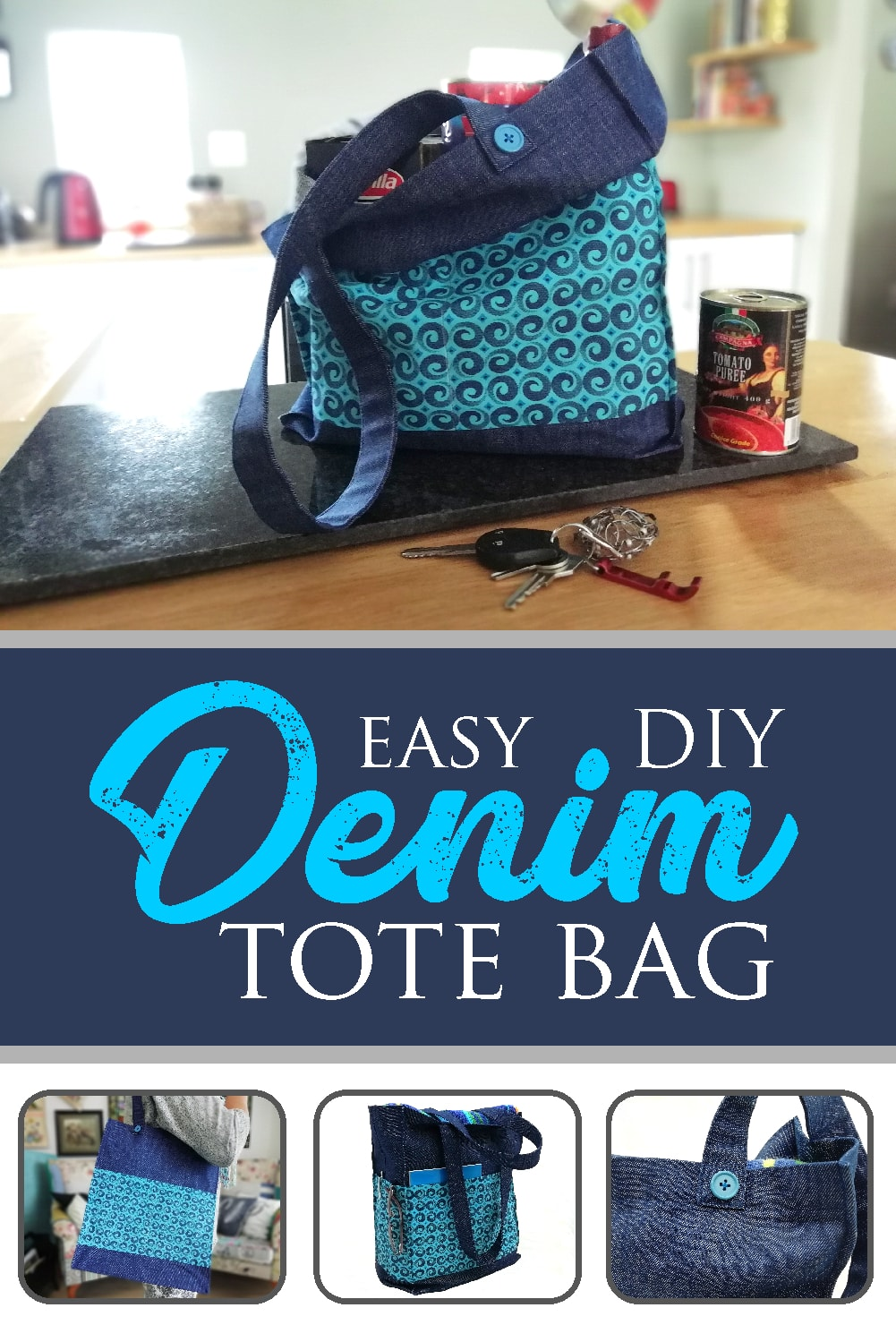 How to Sew a Tote Bag with Flat Bottom