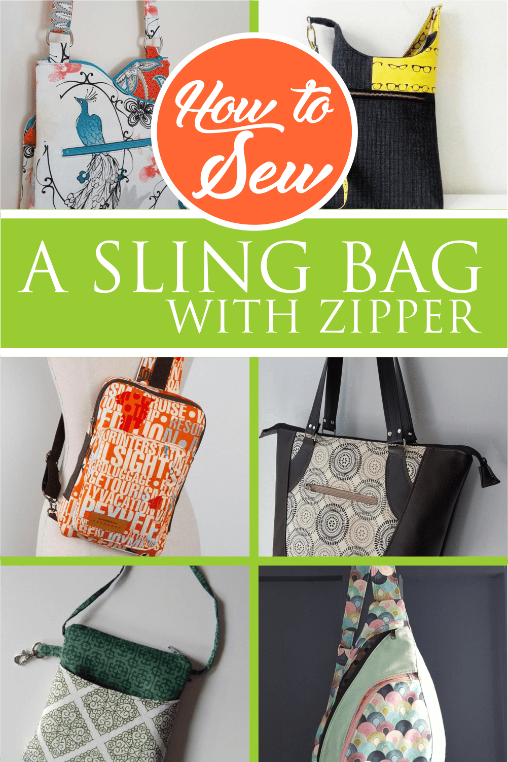 How to Sew a Sling Bag with Zipper