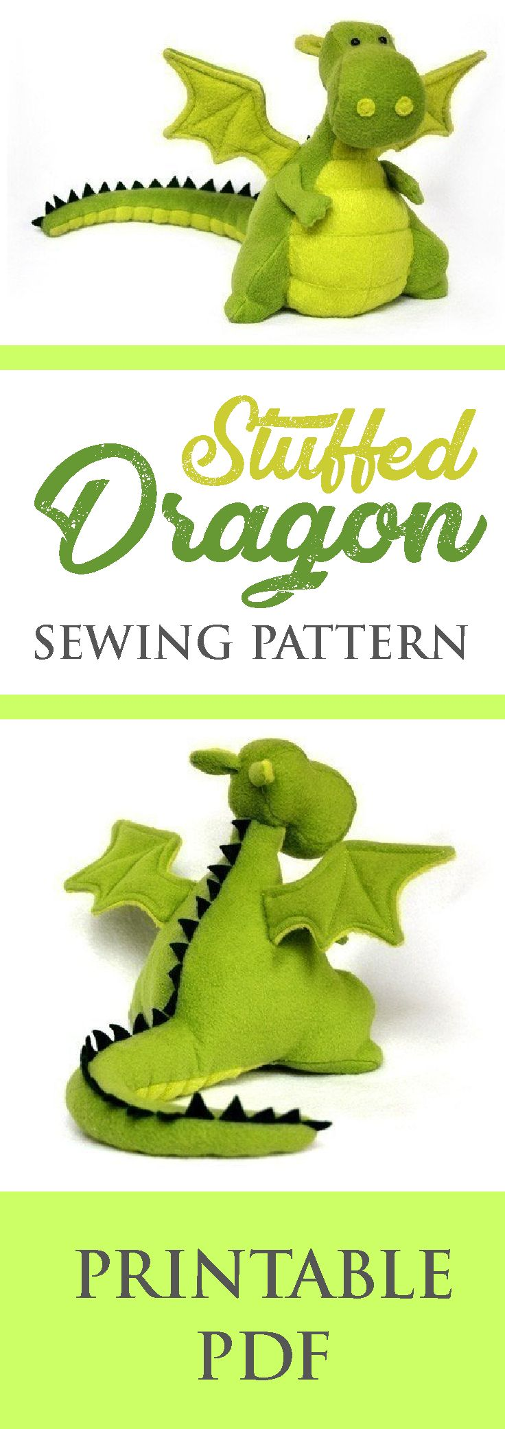 Stuffed Dragon Pattern Plush