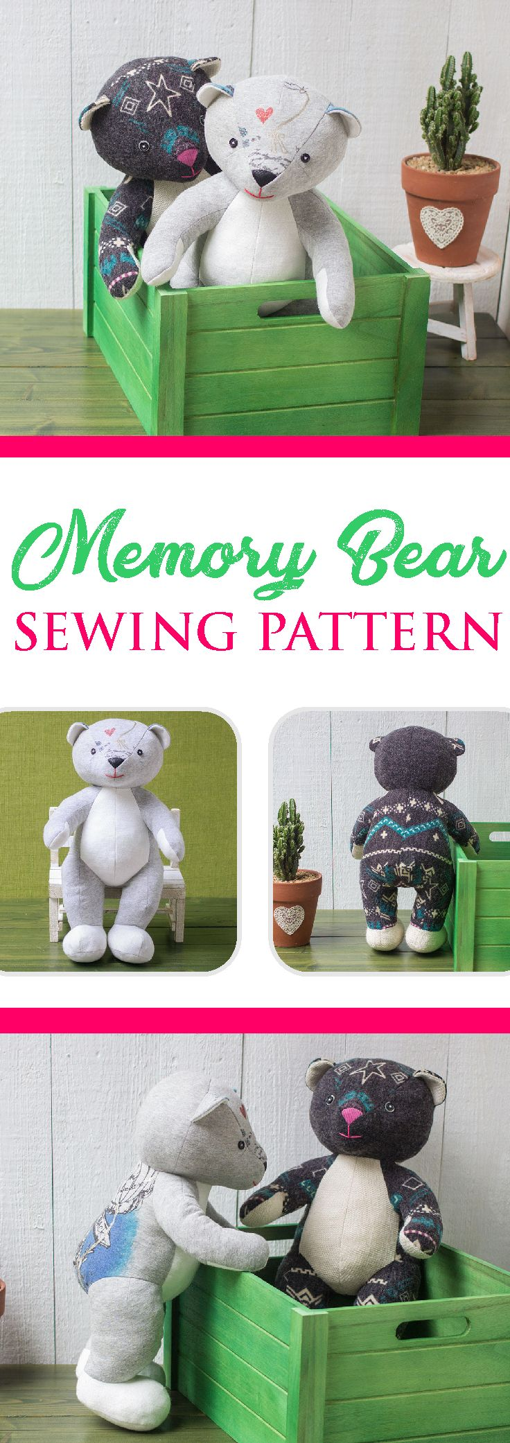 Memory Bear Sewing Pattern Plush