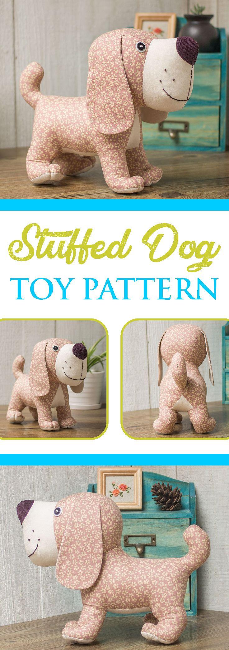 Stuffed Dog Toy Pattern Plush