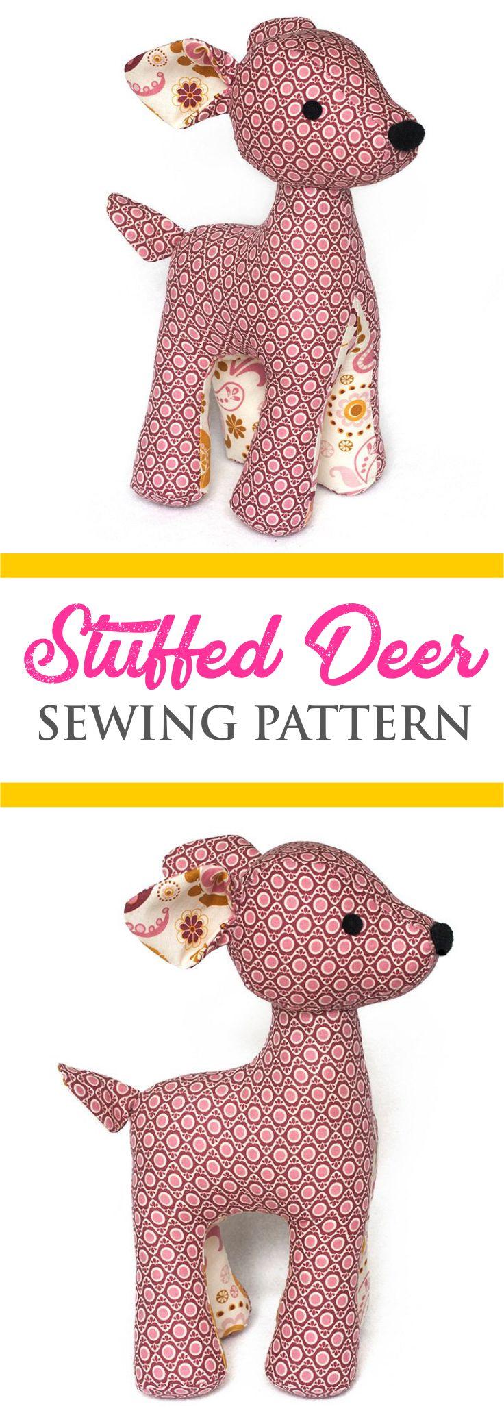 Stuffed Deer Sewing Pattern