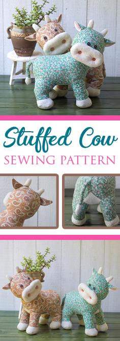 Share this Stuffed Cow Sewing Pattern on Pinterest!