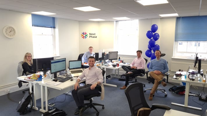 image A few of the Next Phase team in our Horsham office