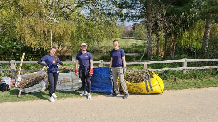 image Steve, Aaron and Ellis after a morning's volunteering!