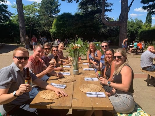 image Team lunch in the sunshine!