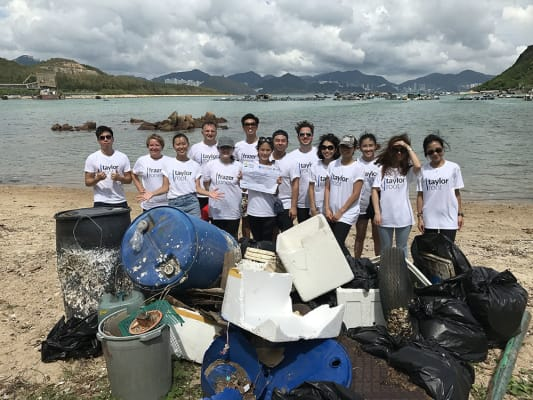 image Our Hong Kong office doing a beach clean up day