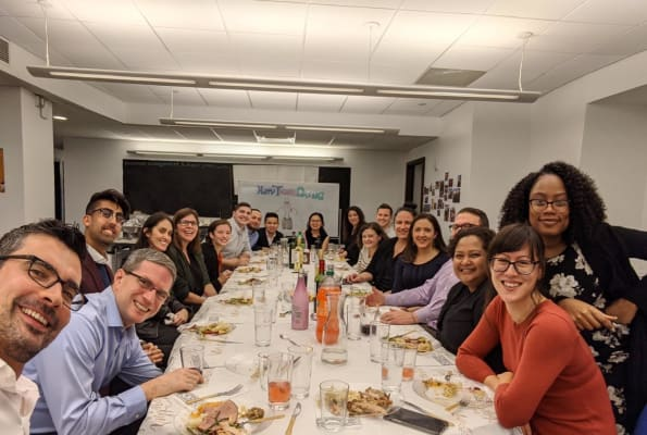 image Pot luck Thanksgiving dinner in our New York office