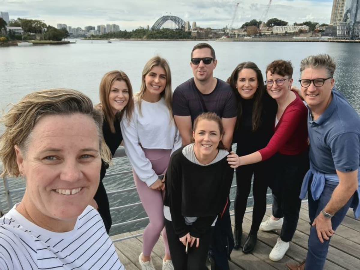 image Our Sydney office doing a walk for Mental Health Awareness Week 2021