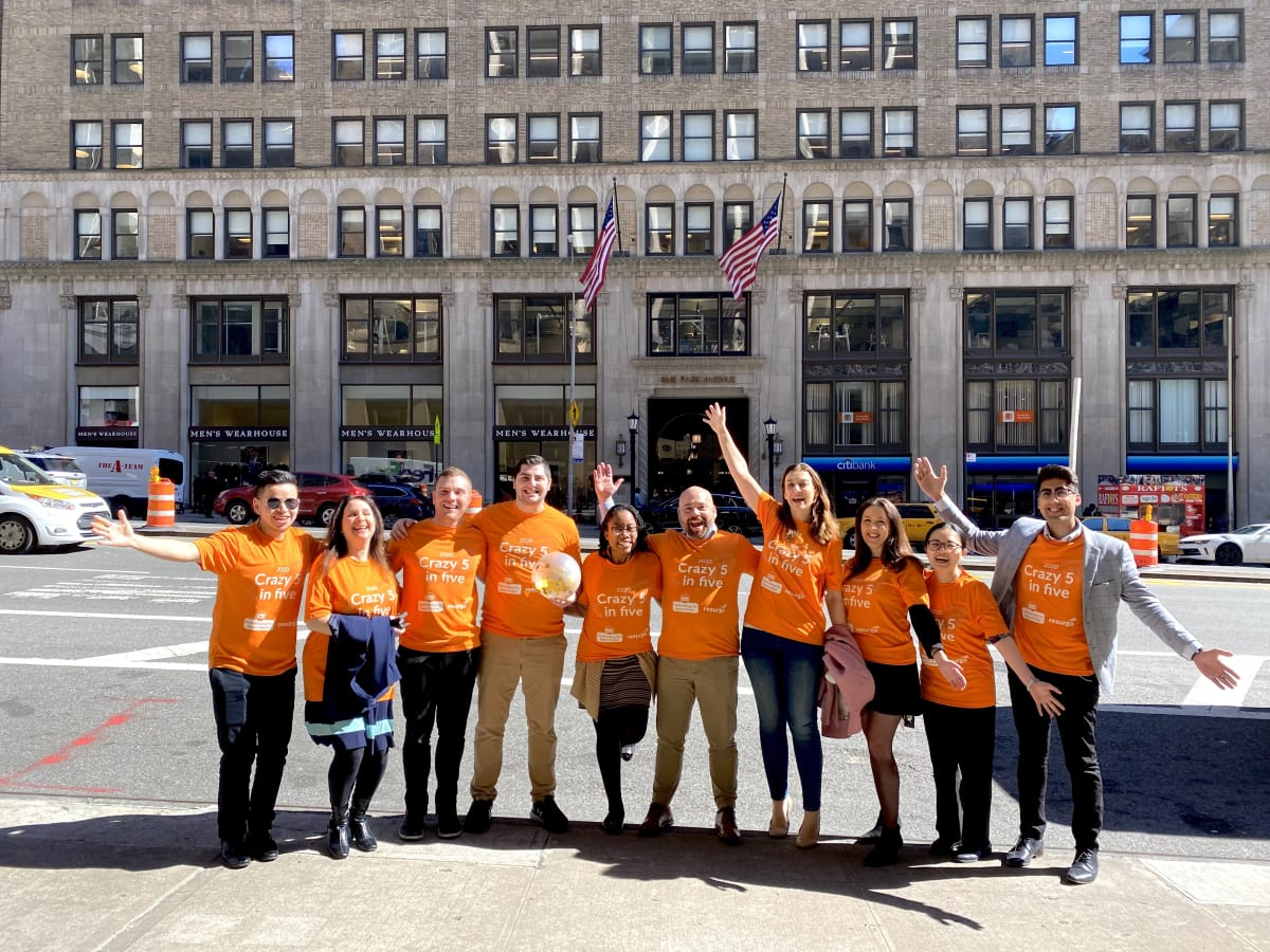 image Team NYC taking part in our Crazy 5